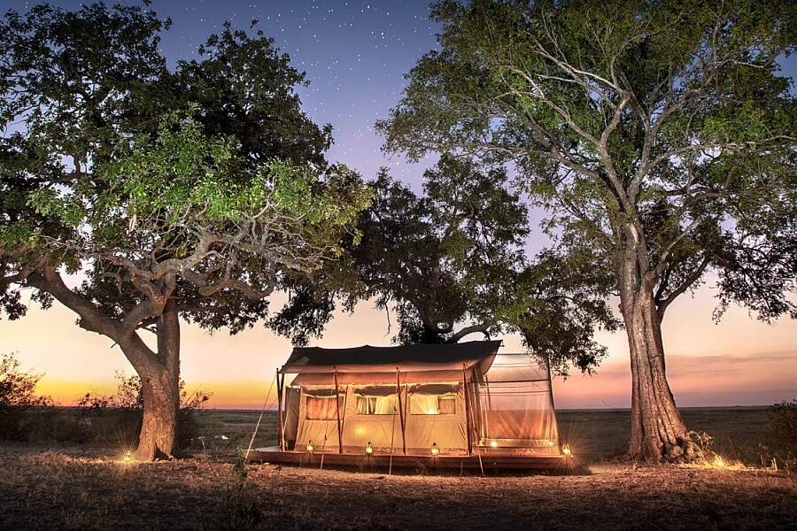 Insect-proof accommodation in Botswana