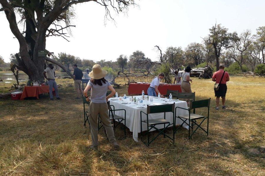Bush lunch in Botswana Moremi