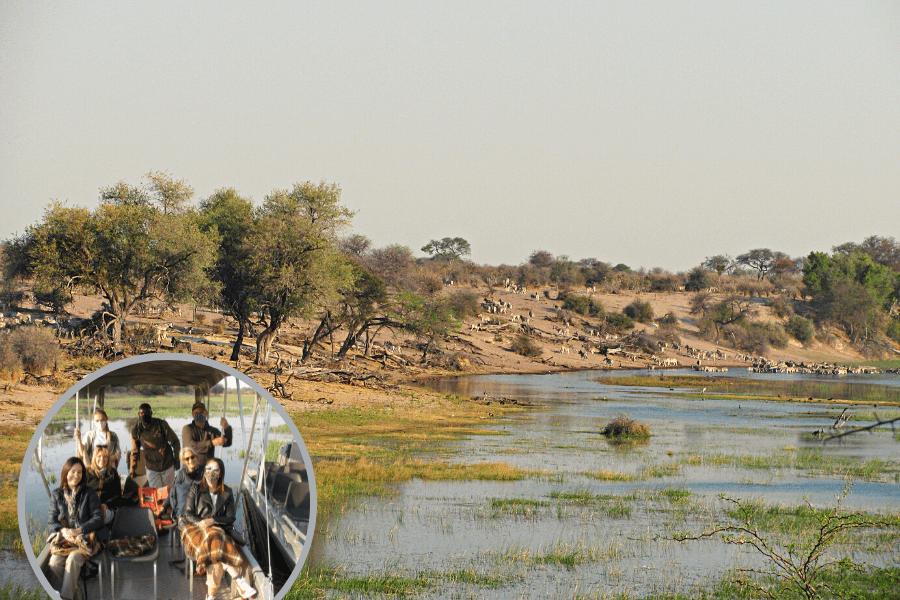 Safari journey in Botswana Magkadigkadi